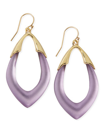 Prairie Crocus Orbit Lucite Earrings, Purple