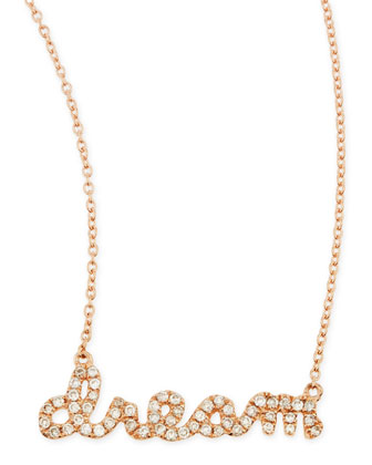 14k Rose Gold Diamond Dream Necklace