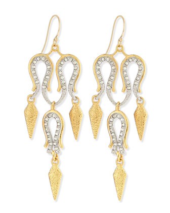 Maldivian Aigrette Crystal Chandelier Earrings