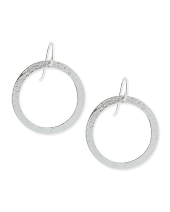 Paris Single-Drop Medium Circle Earrings