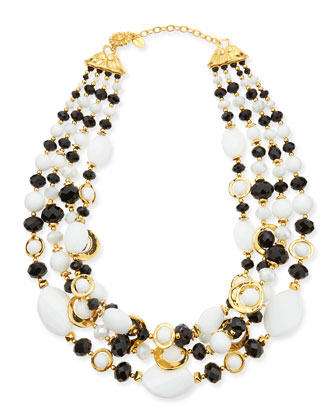 Black & White Multi-Strand Necklace