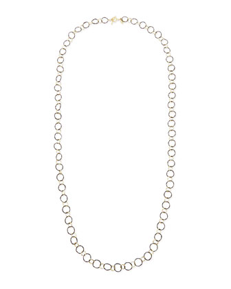 Midnight Silver & 18k Yellow Gold Link Necklace, 34