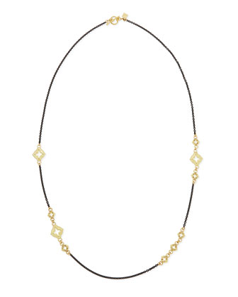 Champagne Diamond Cravelli Midnight Chain Necklace, 24