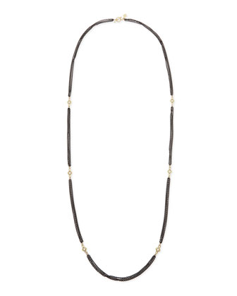 3-Strand Midnight Necklace with Champagne Diamonds, 36
