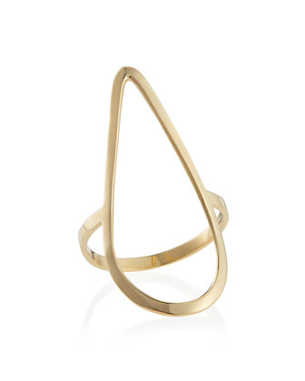 14k Yellow Gold Pear Ring