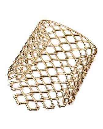 Asymmetric Barbed Link Cuff