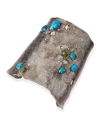 Cholulian Collection Multi-Stone Wide Cuff