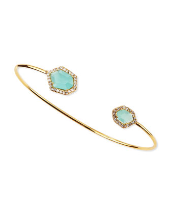 Mint Crystal Pinch Bracelet