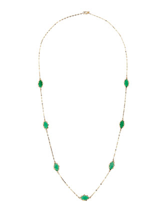Envy Green Onyx 14k Gold Necklace, 22