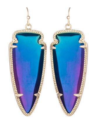 Skylar Earrings, Black Iridescent