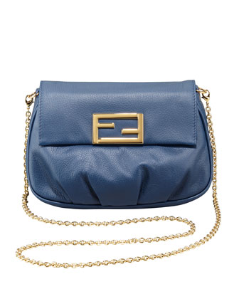 Fendista Pouchette Crossbody Bag, Navy