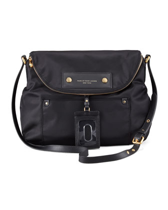 Preppy Nylon Sasha Crossbody Bag, Black