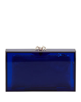 Pandora Spider Clutch Box, Blue
