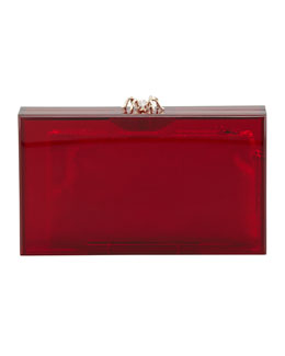Charlotte Olympia Pandora Spider Clutch Box, Red