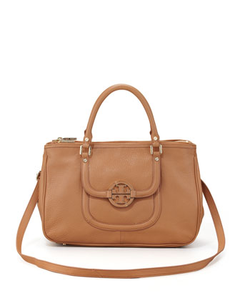 Amanda Double-Zip Tote Bag, Camel