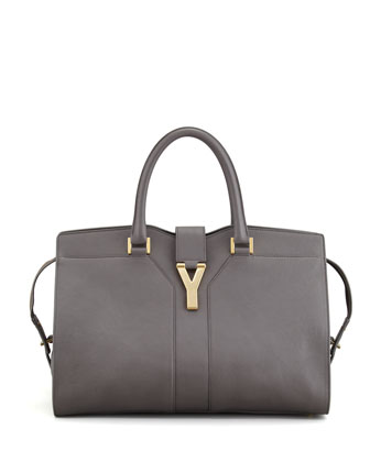 Y Ligne Medium Tote Bag, Gray