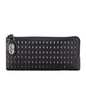 T-Pin Turnlock Wallet, Black