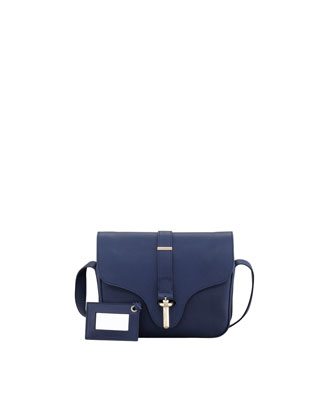 Tube-Clasp Crossbody Bag, Baltic Bleu