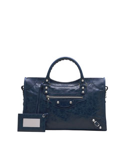 Balenciaga Giant 12 Nickel City Bag, Bleu Mineral