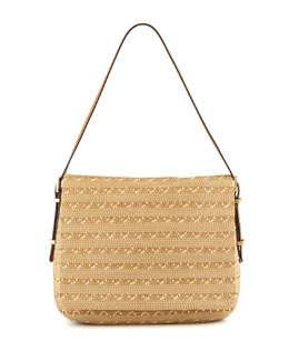 Eric Javits Squishee Law Shoulder Bag, Natural Mix