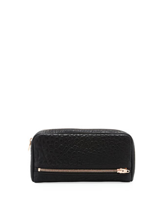 Fumo 3/4-Zip Continental Wallet, Black