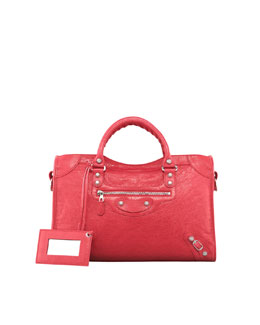 Balenciaga Giant 12 Nickel City Bag, Rose Thulian