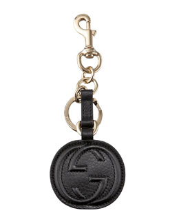 Gucci Interlocking GG Leather Key Ring
