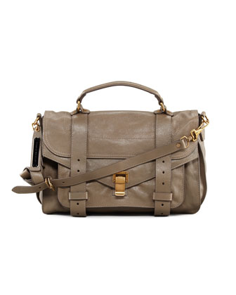 PS1 Lambskin Satchel Bag, Medium