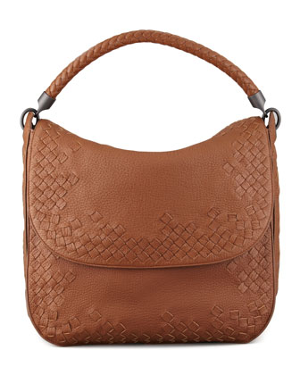 Cervo Medium Flap Shoulder Bag, Dark Brown