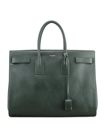 Classic Sac De Jour Leather Tote Bag, Green