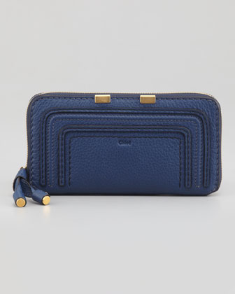 Marcie Continental Zip Wallet, Royal Blue