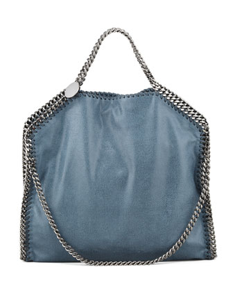 Falabella Fold-Over Tote Bag, Feather Blue
