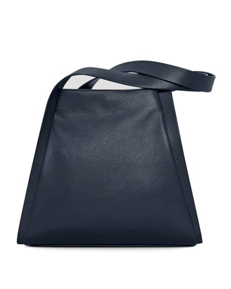 Alex Medium Seamed Tote Bag, Denim