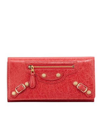 Giant Golden Money Wallet, Rouge Cardinal