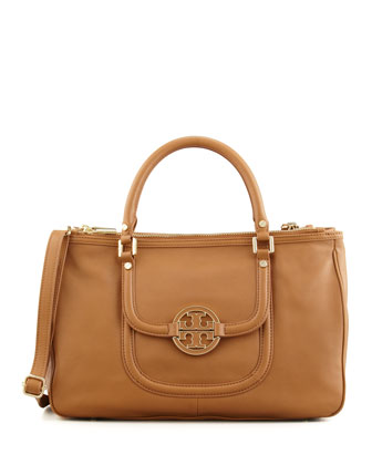 Amanda Double-Zip Tote Bag, Royal Tan