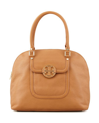 Amanda Dome Tote Bag, Royal Tan