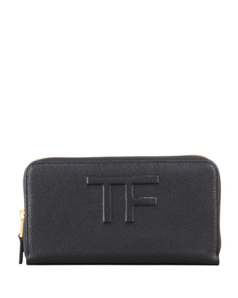 Large Zip Wallet, Black