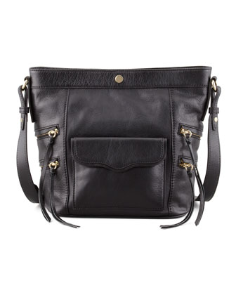 Dexter Leather Bucket Bag, Black