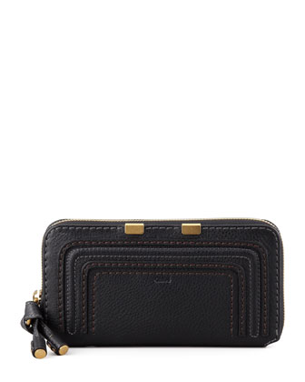 Marcie Continental Zip Wallet, Black
