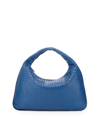 Large Lambskin Sac Hobo Bag, Royal Blue