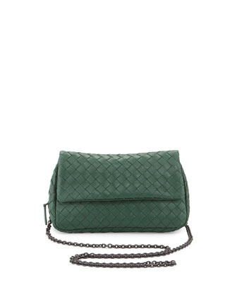 Woven Mini Crossbody Bag, Jade