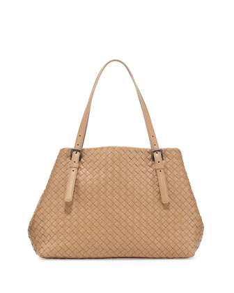 Medium Double-Strap A-Shape Tote Bag, Walnut Taupe