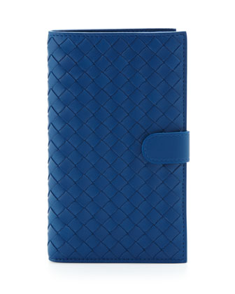Woven Snap-Tab Continental Wallet, Electriq Royal