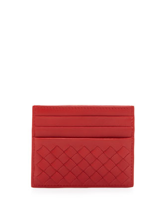 Woven Credit Card Sleeve, New Bright Red
