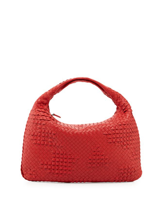 Veneta Large Waves Sac Hobo, New Bright Red