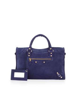 Giant 12 Golden Suede City Bag, Blue