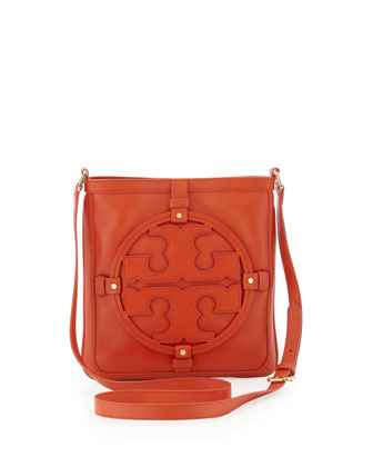 Holly Bookbag Crossbody, Blood Orange