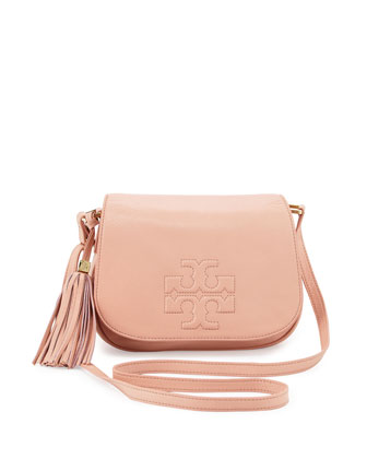 Thea Crossbody Saddle Bag, Porcelain Pink