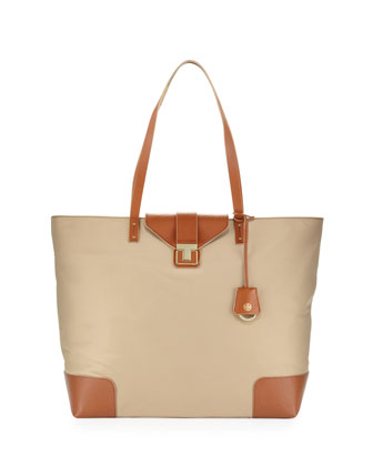 Penn Zip-Top Tote Bag, Mid Camel
