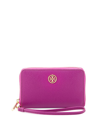Robinson Smart-Phone Wristlet Wallet, Royal Fuchsia